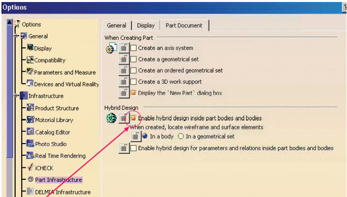 Conversion of hybrid to Non – hybrid environment   CATIA Tutor